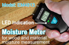 EM4813, Wood and Building Material Moisture Meter