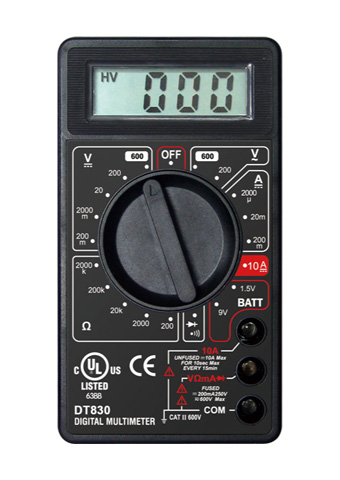 Picture of DT830, ETL marking  3 1/2 DIGITAL MULTIMETER