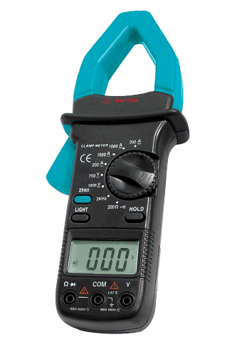 Picture of EM204, CATIII, DCV,ACV,DCA,ACA,Ω,Hz, Digital Clamp Meter
