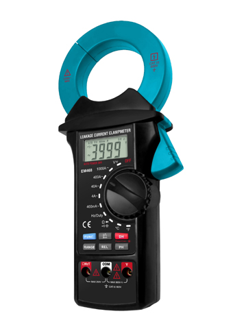 Picture of EM468A, EM468 LEAKAGE CURRENT CLAMP METER