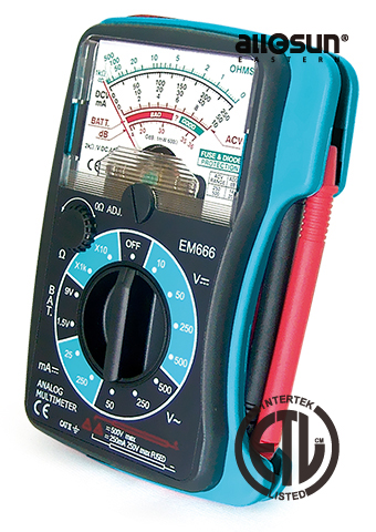 Picture of EM666B, ETL marking, POCKET SIZE ANALOG MULTIMETER